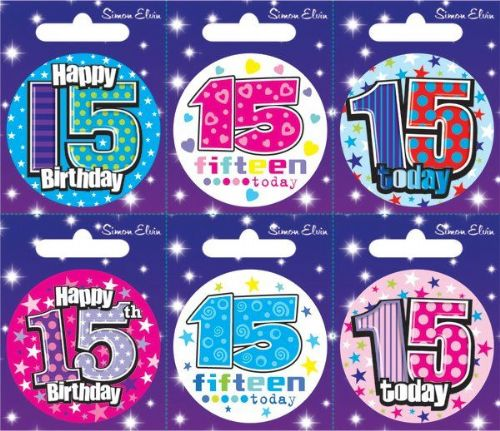 Badge 6 Card Happy Birthday 15